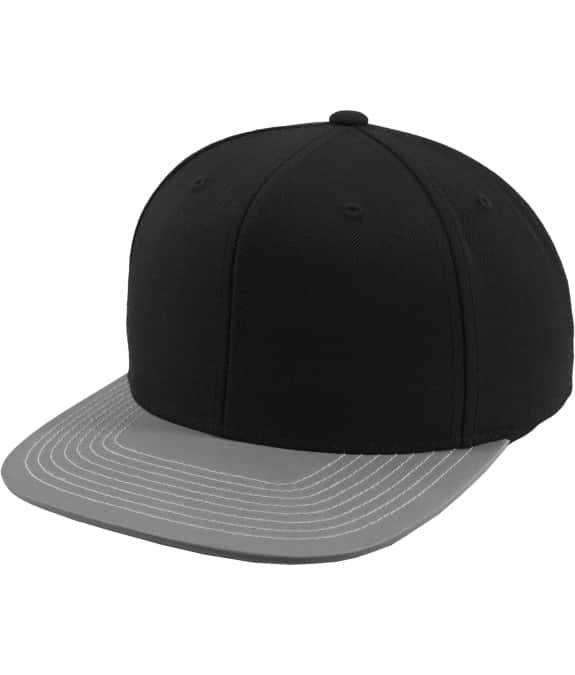Reflective Visor Snapback black-grey 1