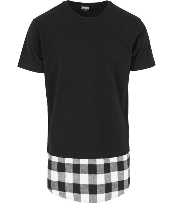 Long Shaped Flanell Bottom Tee black-black-white 2