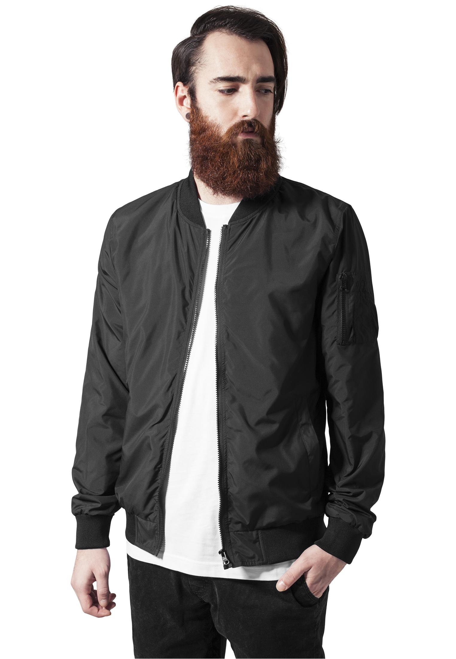 urban classics light bomber black bomber jackets. Black Bedroom Furniture Sets. Home Design Ideas