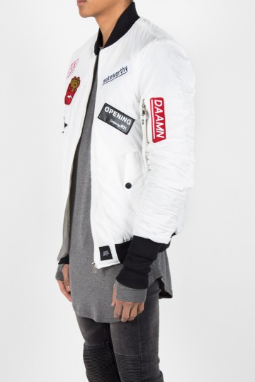 27a95abe8102 Sixth June Bomber Jacket Patch White men