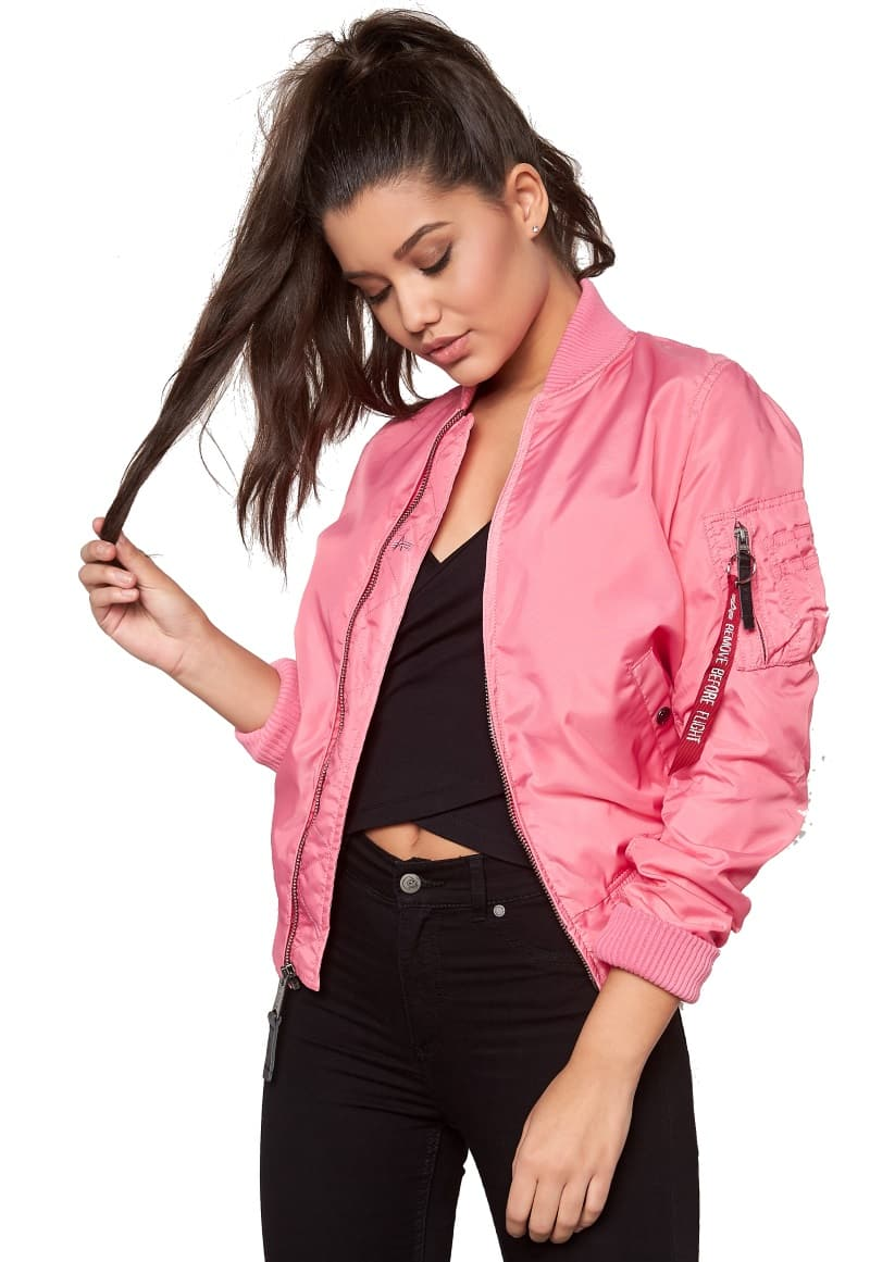 alpha industries ma 1 tt women pink bomber jackets. Black Bedroom Furniture Sets. Home Design Ideas