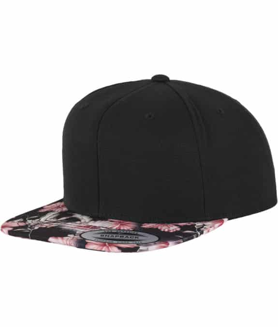 Floral Snapback red1