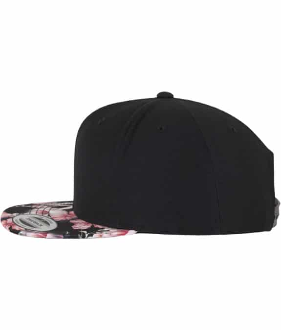 Floral Snapback red3