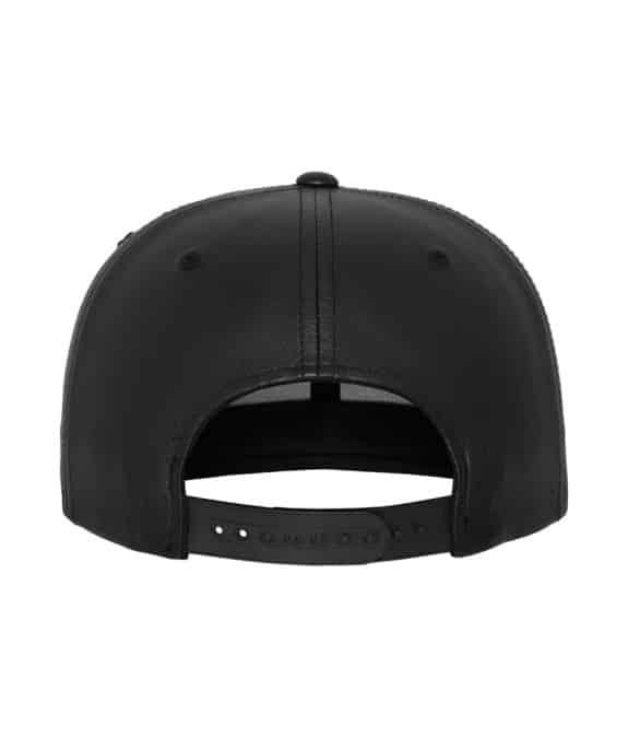 Full Leather Imitation Snapback black-black 3
