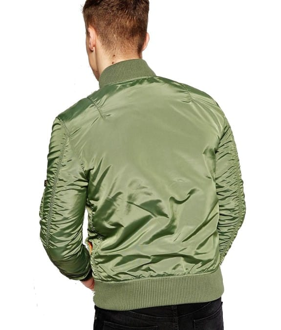 Alpha industries-MA 1 TT-sage back