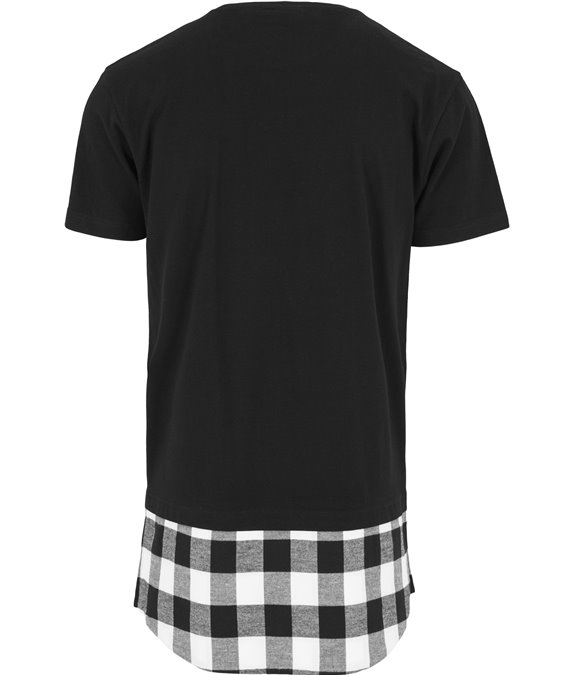 Long Shaped Flanell Bottom Tee black-black-white 3